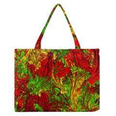 Hot Liquid Abstract C Medium Zipper Tote Bag