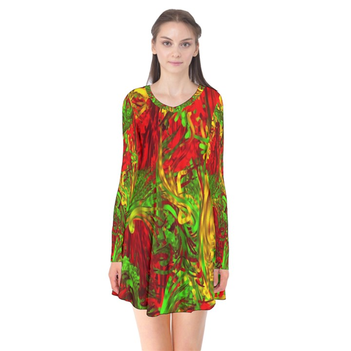 Hot Liquid Abstract C Flare Dress