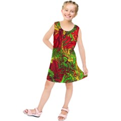 Hot Liquid Abstract C Kids  Tunic Dress