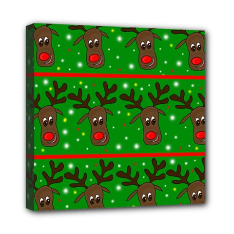 Reindeer pattern Mini Canvas 8  x 8