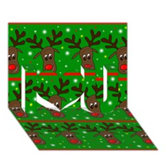 Reindeer pattern I Love You 3D Greeting Card (7x5)