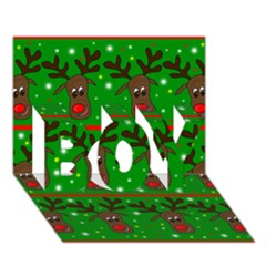 Reindeer pattern BOY 3D Greeting Card (7x5)