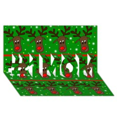 Reindeer pattern #1 MOM 3D Greeting Cards (8x4)
