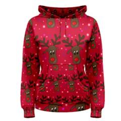 Reindeer Xmas pattern Women s Pullover Hoodie
