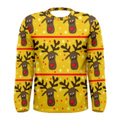 Christmas reindeer pattern Men s Long Sleeve Tee