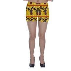 Christmas reindeer pattern Skinny Shorts