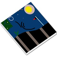 Abstract night landscape Small Memo Pads
