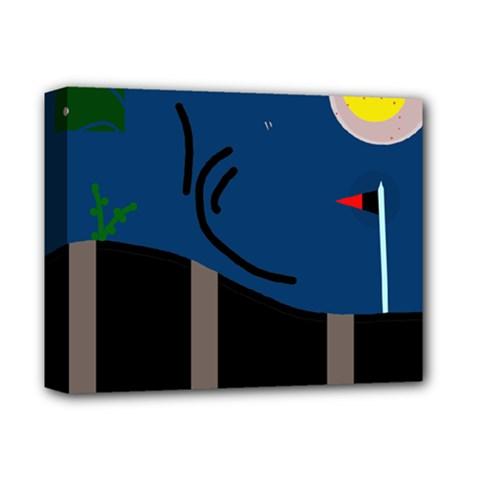 Abstract night landscape Deluxe Canvas 14  x 11