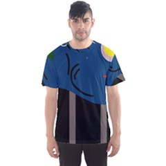 Abstract night landscape Men s Sport Mesh Tee