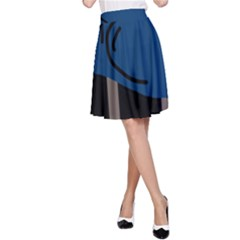 Abstract night landscape A-Line Skirt