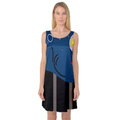 Abstract night landscape Sleeveless Satin Nightdress