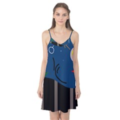 Abstract night landscape Camis Nightgown