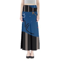 Abstract night landscape Maxi Skirts