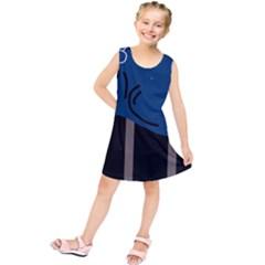 Abstract Night Landscape Kids  Tunic Dress