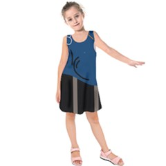 Abstract Night Landscape Kids  Sleeveless Dress