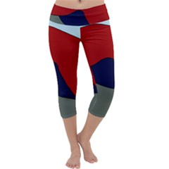 Decorative design Capri Yoga Leggings
