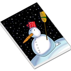 Lonely snowman Large Memo Pads