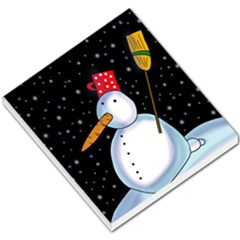 Lonely snowman Small Memo Pads