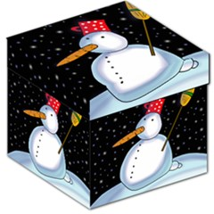 Lonely snowman Storage Stool 12