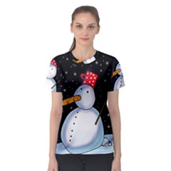 Lonely snowman Women s Sport Mesh Tee