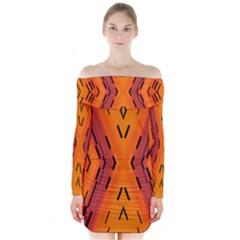 Clothing (21)6k,kg77mj Long Sleeve Off Shoulder Dress