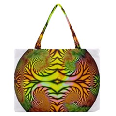 Fractals Ball About Abstract Medium Zipper Tote Bag