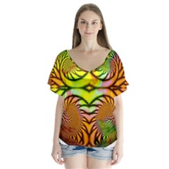 Fractals Ball About Abstract Flutter Sleeve Top