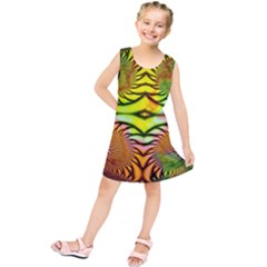 Fractals Ball About Abstract Kids  Tunic Dress