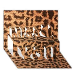 Leopard Print Animal Print Backdrop Miss You 3d Greeting Card (7x5)