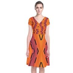 Clothing (21)6k,kg77mjhr Short Sleeve Front Wrap Dress
