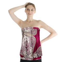 Morocco Motif Pattern Travel Strapless Top