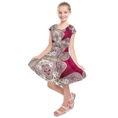 Morocco Motif Pattern Travel Kids  Short Sleeve Dress