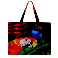 Papgei Red Bird Animal World Towel Medium Zipper Tote Bag