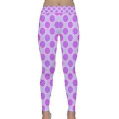 Pastel Pink Mod Circles Yoga Leggings