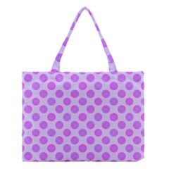 Pastel Pink Mod Circles Medium Tote Bag