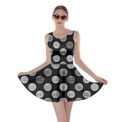 Death Star Polka Dots In Greyscale Skater Dress