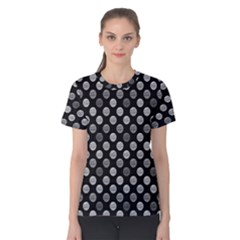 Death Star Polka Dots In Greyscale Women s Cotton Tee