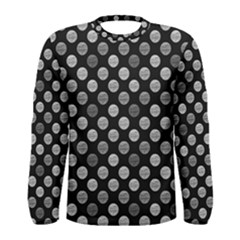 Death Star Polka Dots In Greyscale Men s Long Sleeve Tee