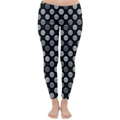 Death Star Polka Dots In Greyscale Winter Leggings