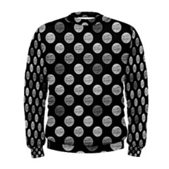 Death Star Polka Dots In Greyscale Men s Sweatshirt