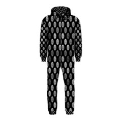 Death Star Polka Dots In Greyscale Hooded Jumpsuit (Kids)