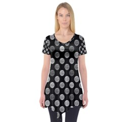 Death Star Polka Dots In Greyscale Short Sleeve Tunic