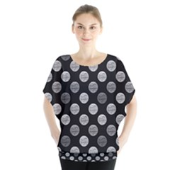 Death Star Polka Dots In Greyscale Blouse