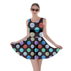 Death Star Polka Dots in Multicolour Skater Dress