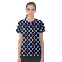 Death Star Polka Dots In Multicolour Women s Cotton Tee