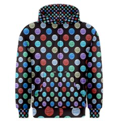 Death Star Polka Dots in Multicolour Men s Zipper Hoodie