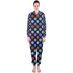 Death Star Polka Dots in Multicolour Hooded Jumpsuit (Ladies)