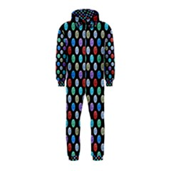 Death Star Polka Dots In Multicolour Hooded Jumpsuit (kids)