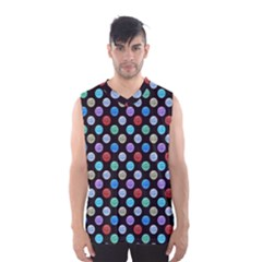 Death Star Polka Dots in Multicolour Men s Basketball Tank Top