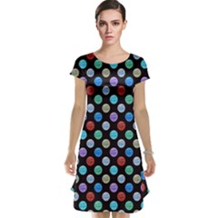 Death Star Polka Dots in Multicolour Cap Sleeve Nightdress